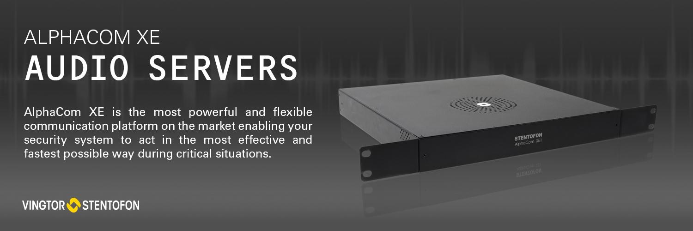 AlphaCom XE Audio Servers