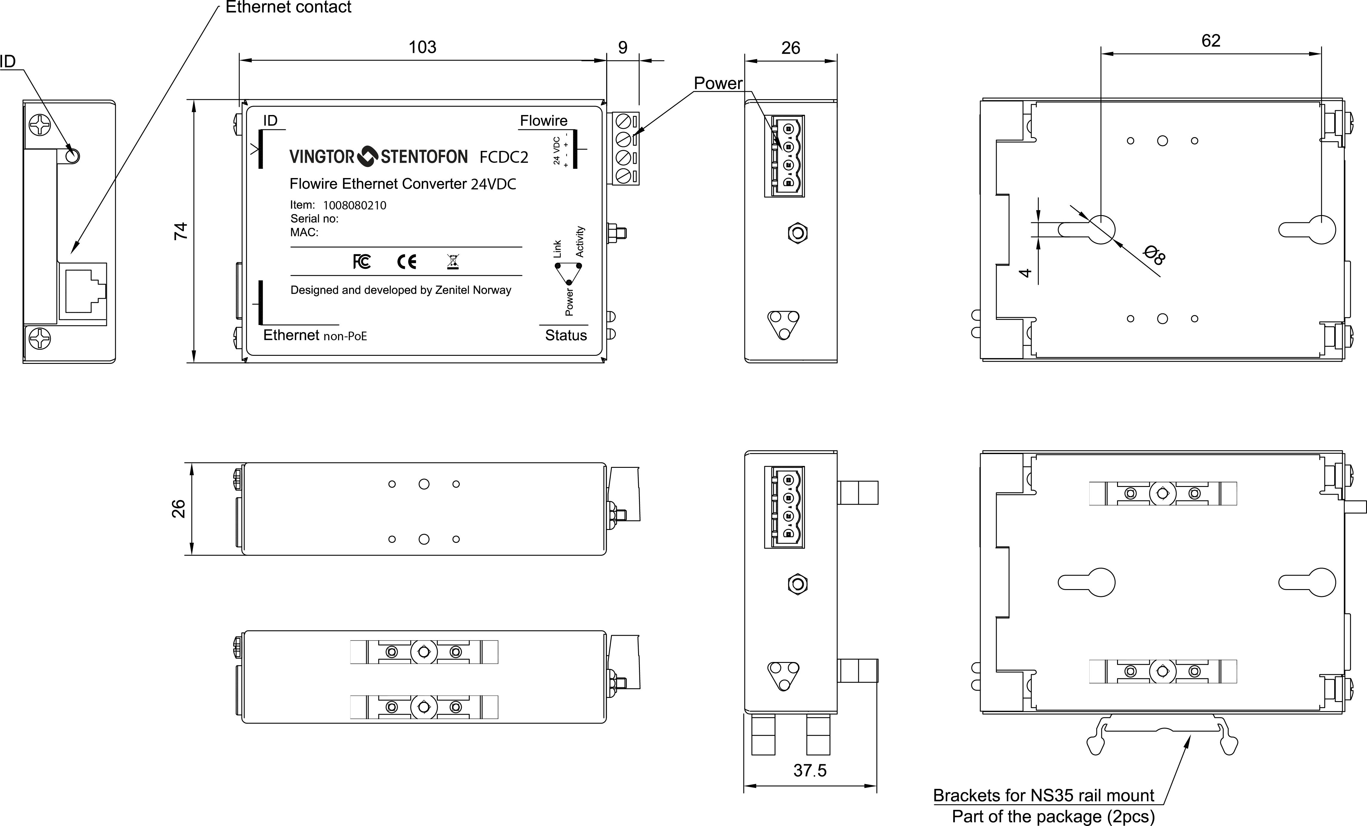 FCDC2_1008080210_Flowire_Ethernet_Converter fcdc2 zenitel stentofon wiring diagrams at eliteediting.co