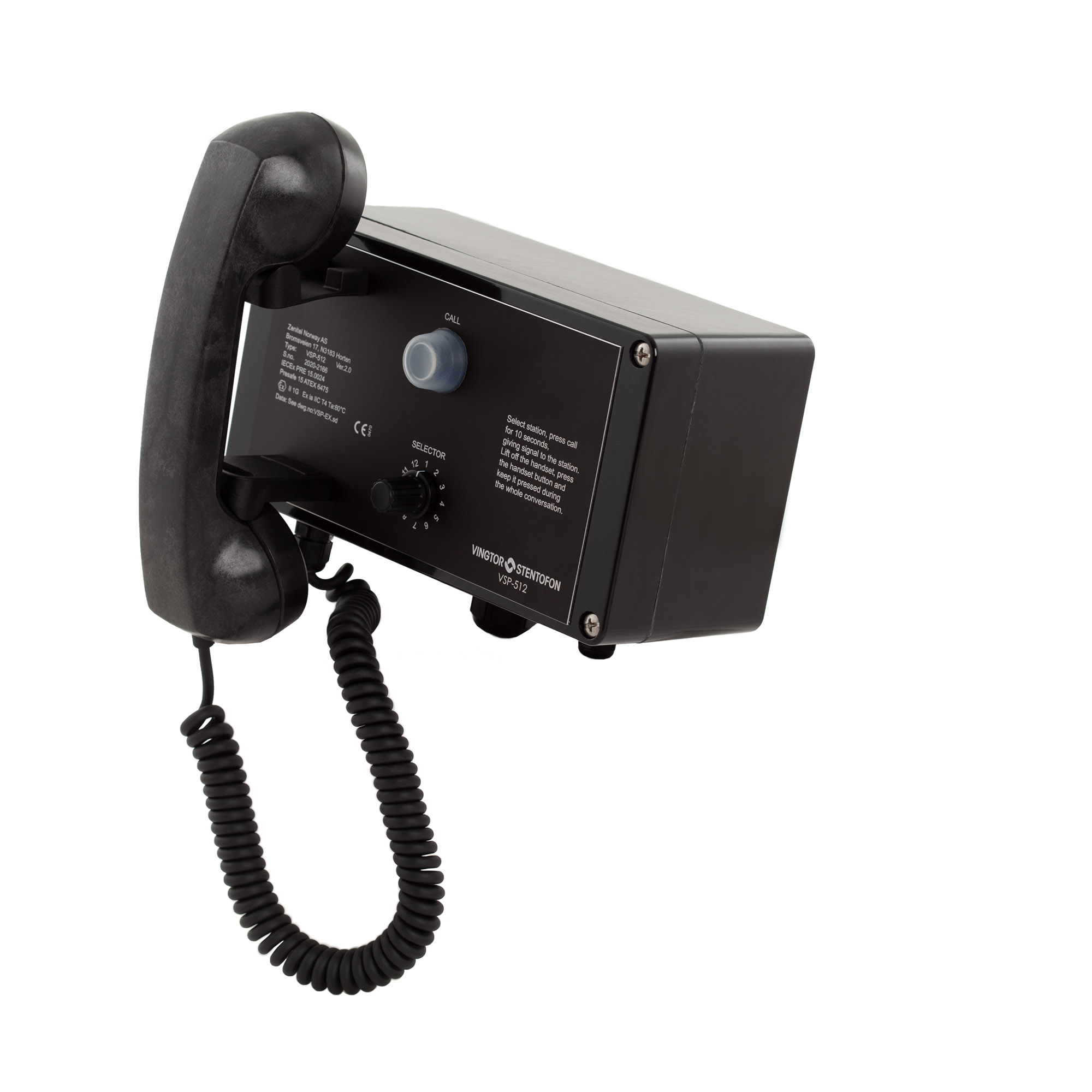 Batteryless Telephone for required onboard emergency communication