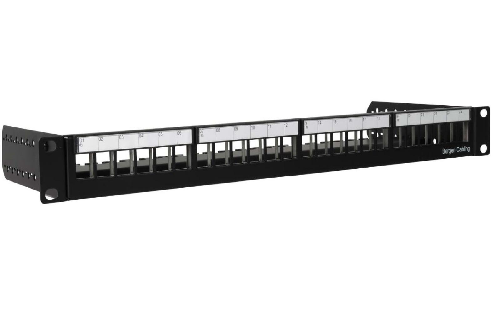 Bergen Cabling - Maritime LAN PP 24p Black - Empty v2