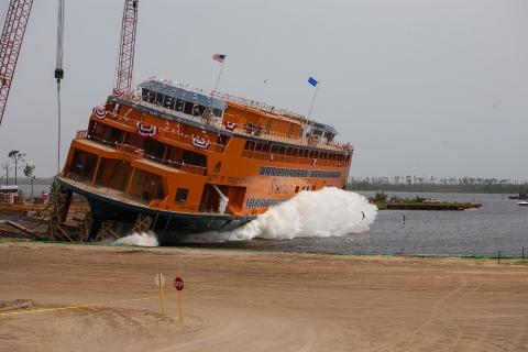 Sandy Ground launch, image courtesy of Eastern Shipbuilding Group