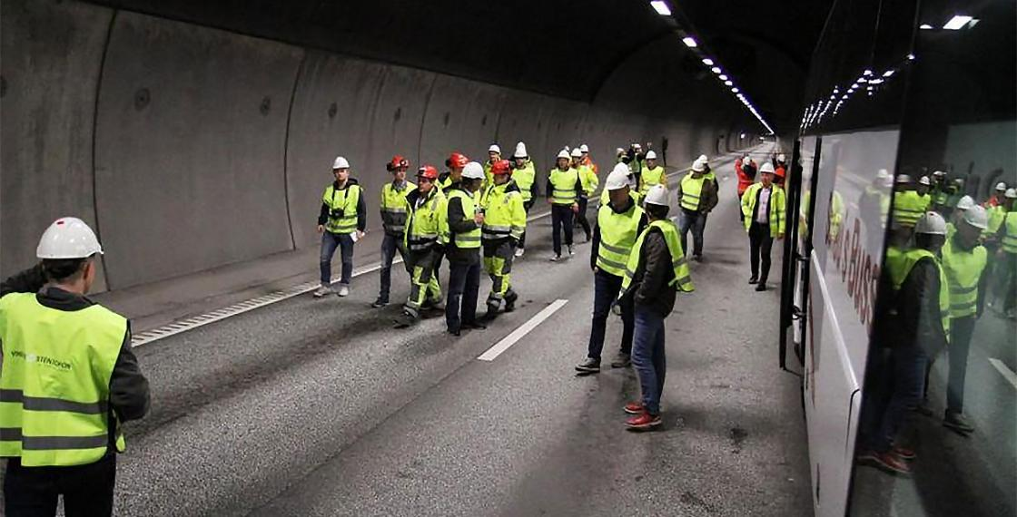 Nordby Tunnel - Exigo installation picture