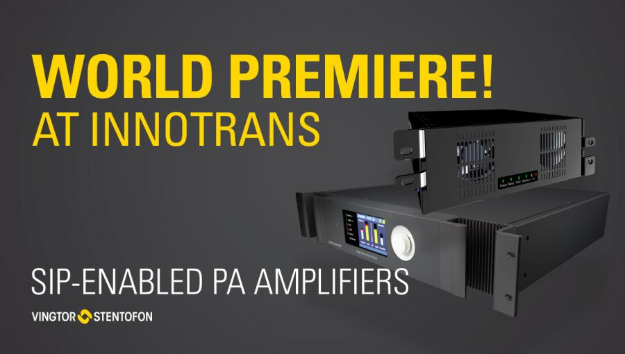 SIP-mode amplifiers premiere at Innotrans 2018