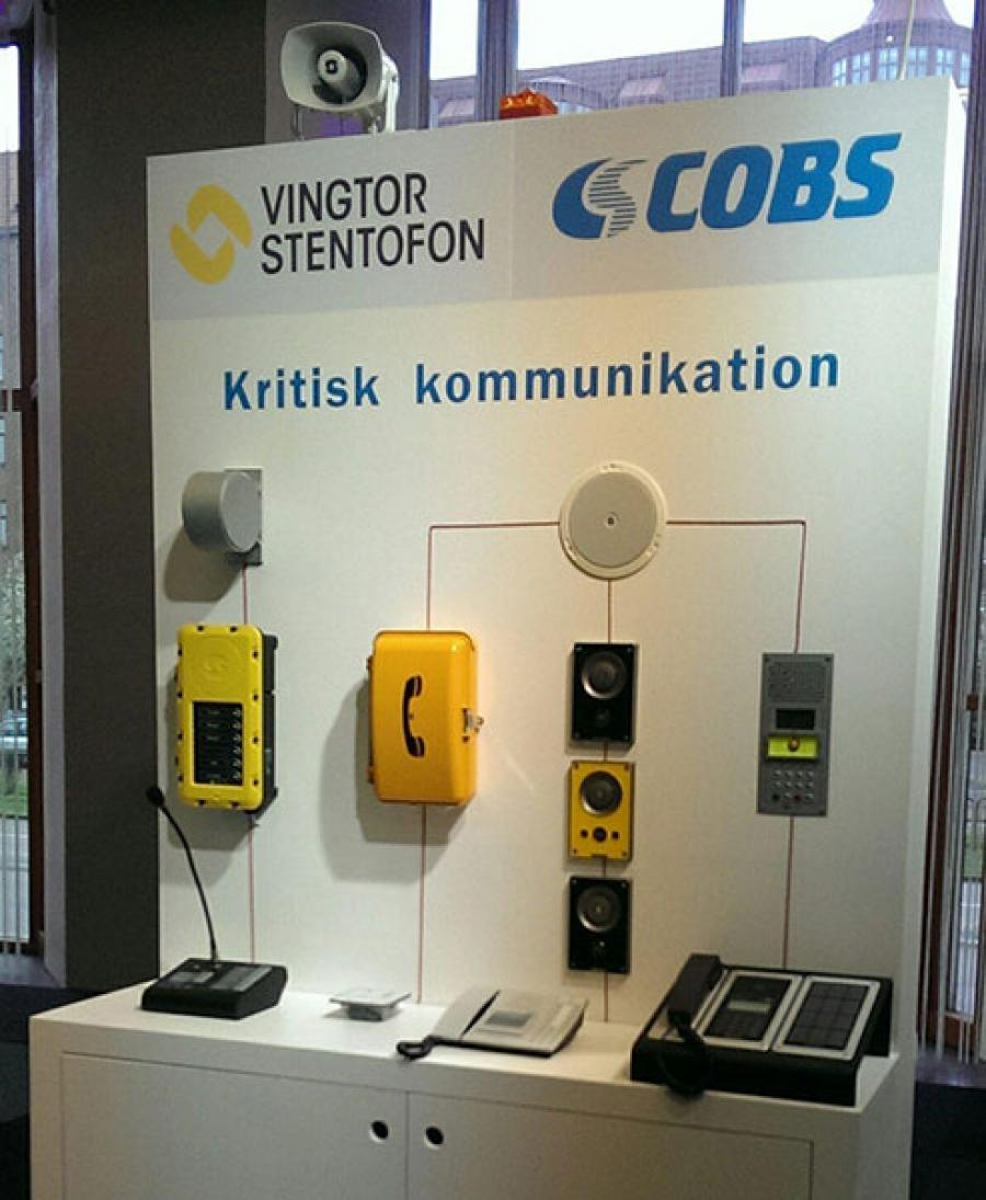 Vingtor-Stentofon products exhibited at Elfack 2015 in Gothenburg