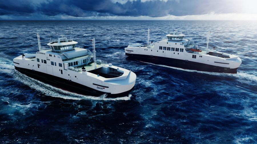 Fjord1 new electric ferries, design and concept Havyard