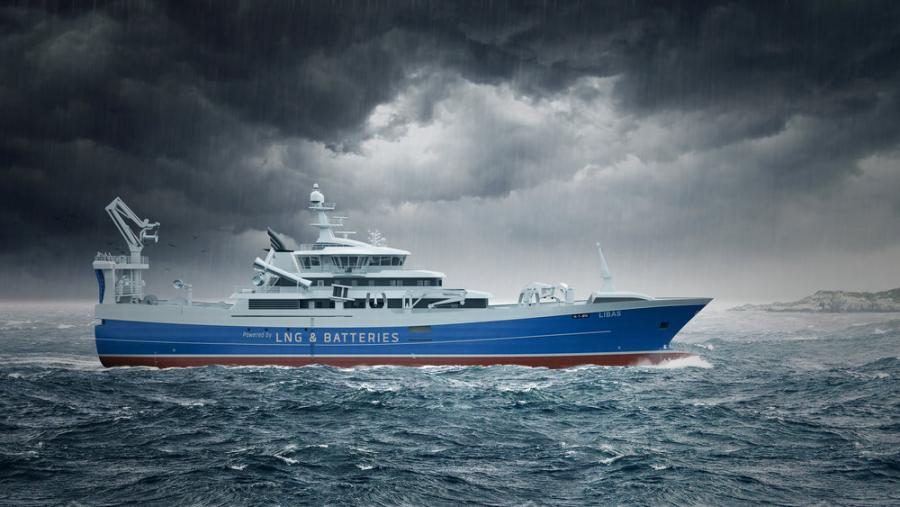 LNG and Battery powered fishing vessel Libas by Liafjord AS