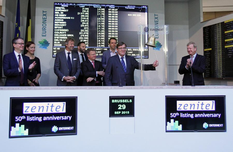 Zenitel 50 years jubileum at Euronext Eugene Beckers rings the bell