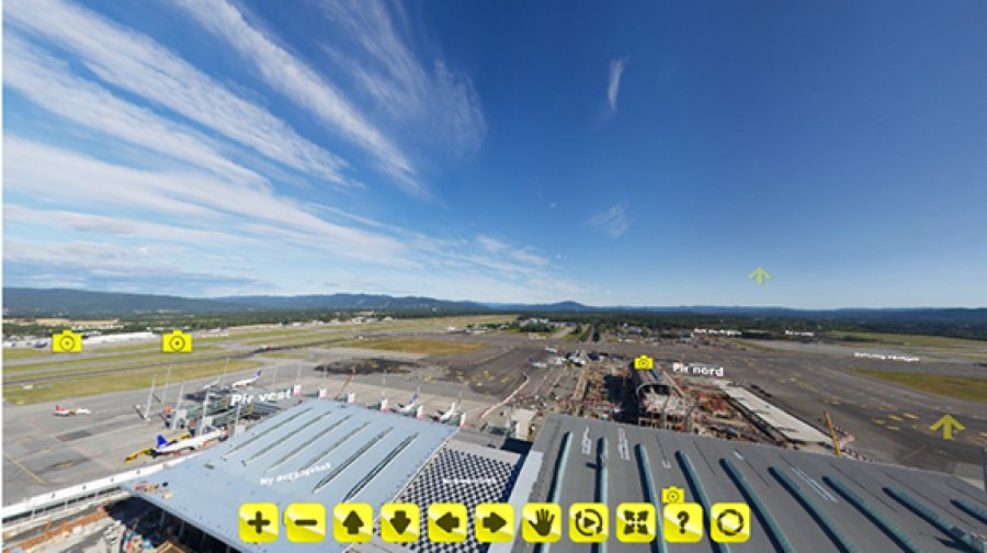 View from control tower at Gardermoen Airport